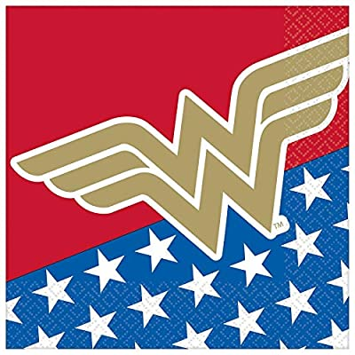 """Wonder Woman Classic"" Luncheon Party Napkins, 6.5"" x 6.5"", 16 Ct.: Toys & Games"