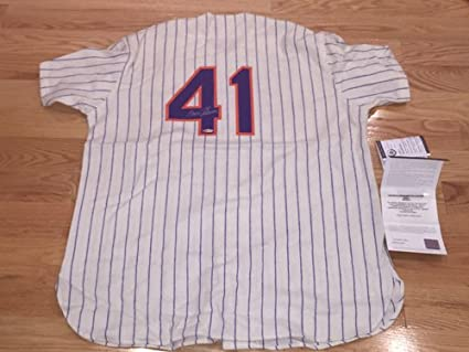 more photos c4461 917fa Tom Seaver Signed Autographed Mets Mitchell and Ness 100th ...