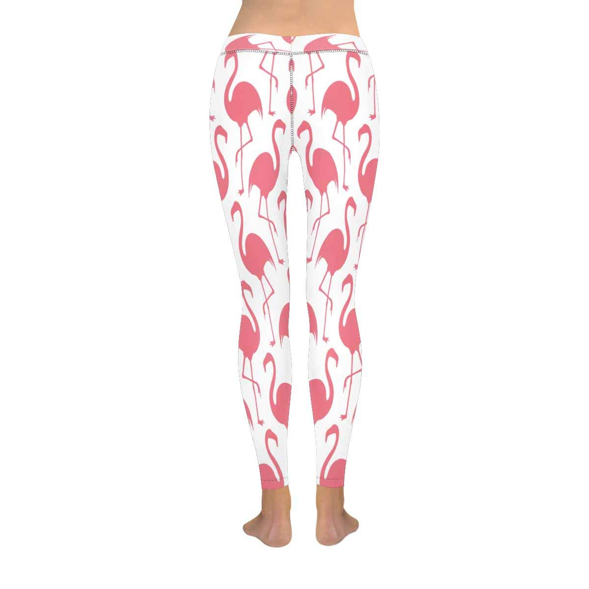 InterestPrint Womens Low Rise Leggings Flamingo Pink Full Length Soft Slim Yoga Pants XXS-5XL