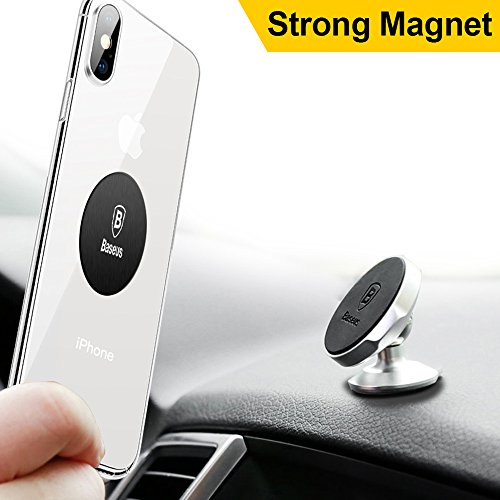 Price comparison product image Cell Phone Holder, Baseus Universal Magnetic Car Mount Compact for iPhone X / 8 / 8 Plus 7 / 7 Plus / 6s / 6 / Galaxy S8 / S7 and more