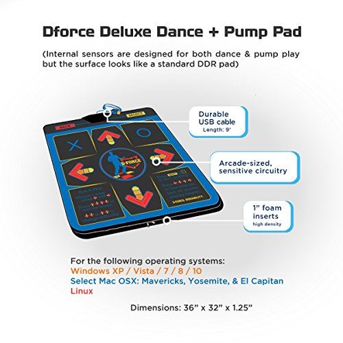D-Force Deluxe Dance + Pump USB Dance Pad