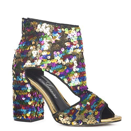 High Heels Lauren (Lauren Lorraine Roxy Multi-Color Rainbow Sequin 4
