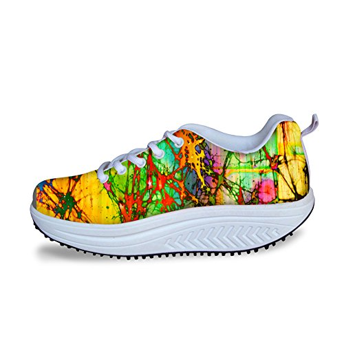 Knuffels Idee Multicolor Fashion Dames Mesh Comfort Sneakers Multicolor 11