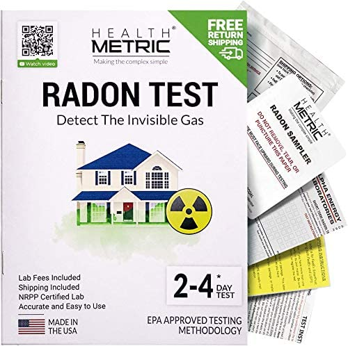 Radon Test Kit for Home - Shipping & Lab Fees Included | Easy to Use Charcoal Radon Gas Detector for Peace of Mind | 48-96h Short Term EPA Approved Radon Tester | Protect Yourself and Your Family