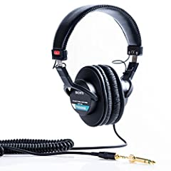 Sony MDR7506 Professional Stereo Headphones are ideal for sound monitoring in recording studios, radio, film production, video, electronic news gathering - and virtually any application where high quality sound is required. The closed-ear des...