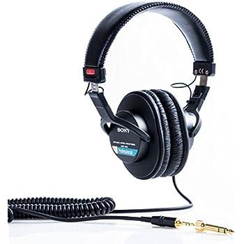 """Audifonos Sony MDR-7506 Estereo Profesionales Monitor- Audífonos (Circumaural, Diadema, 1000 milivatio, Alámbrico, 3.5 mm (1/8"""") + 6.35 mm (1/4""""), OFC)"""