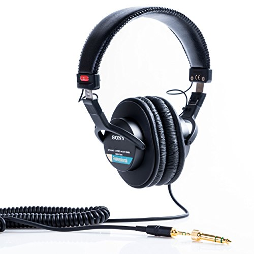 Sony MDR7506 Professional Large Diaphragm Headphone (Best Studio Headphones For Making Beats)