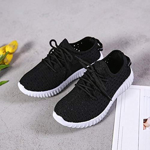 Chaussures Confortables Air Femmes Plein en Up de Sport Maille D Casual Chaussures de Lace Semelles TqTAP