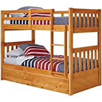 Twin Over Twin Mission Bunk Bed with Under Bed Storage