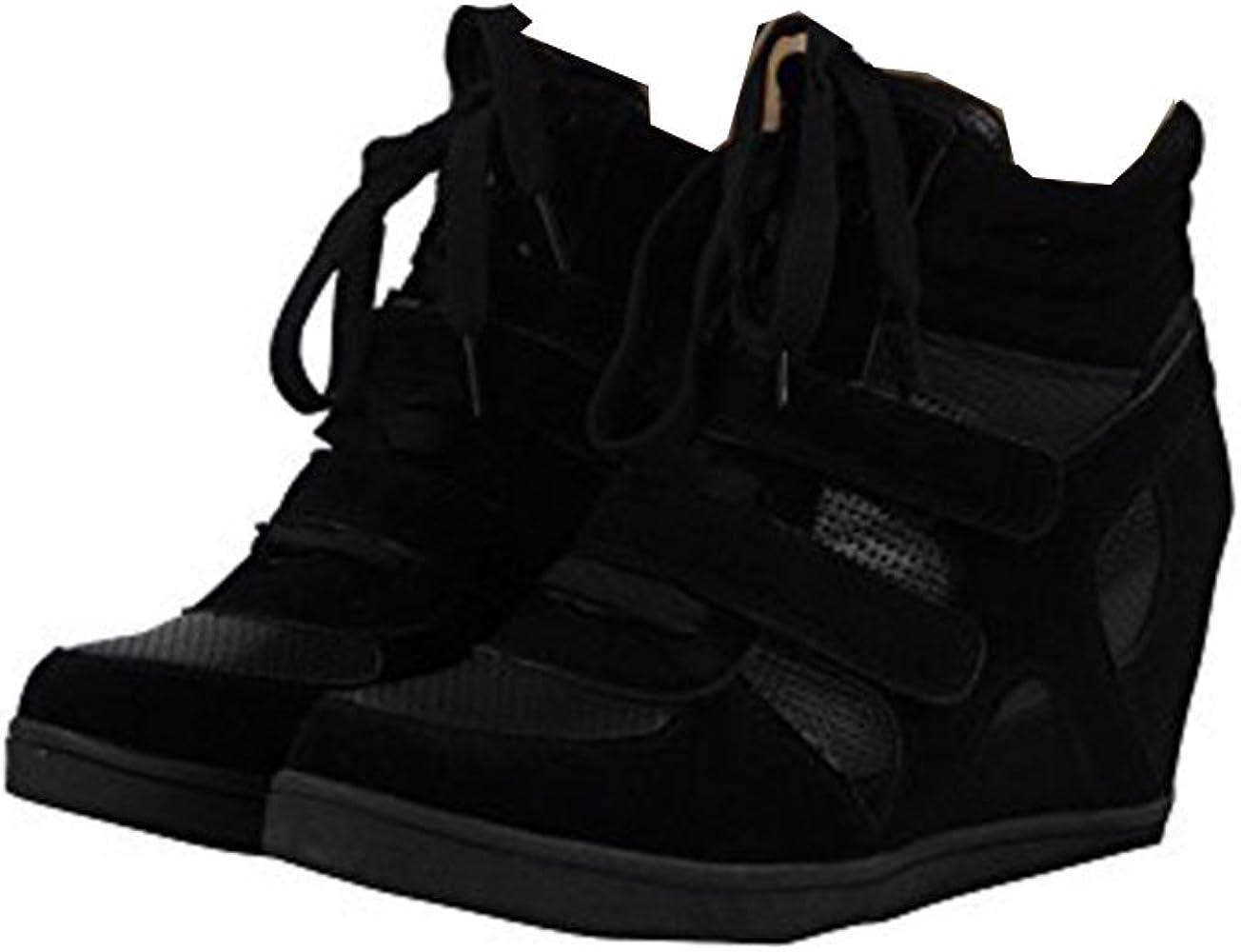 Chaussures femme compensées Baskets Sz 3-8
