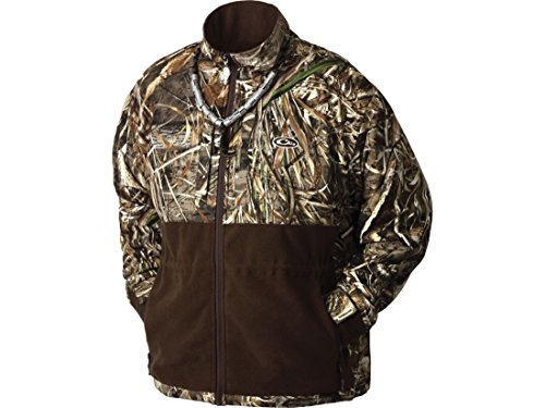 Drake LST Heavyweight Eqwader Deluxe Full Zip Jacket (Realtree Max-5) (Large)