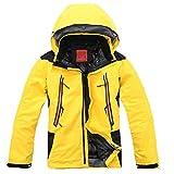 Vvip Mens Outdoor Jacket Climb Hiking Ski Snow Waterproof Hooded Coat Yellow 07-368-1