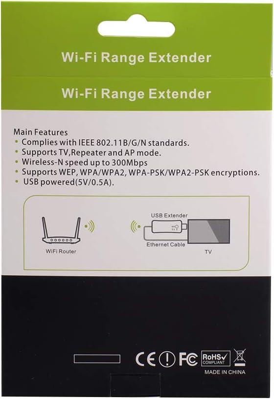 Adaptador de Red inalámbrico a 300 Mbps Universal TV WiFi Tarjeta RJ-45 WiFi WPS repetidor Ap Mode para la TV Samsung LG Sony: Amazon.es: Electrónica