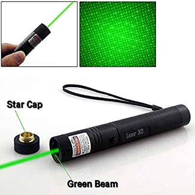 Tactical Green Hunting Rifle Scope Sight Laser Pen, Demo Remote Pen Pointer Projector Travel Outdoor Flashlight, LED Interactive Baton Funny Laser Toy
