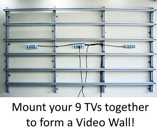 3x3 Video Wall Mount Fixed Display with Micro Adjustment Arms Vesa Universal TV Television
