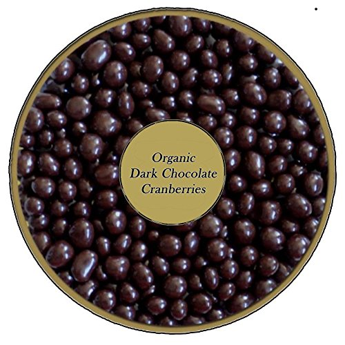 Organic Dark Chocolate covered Cranberries by Healthy Nut Factory