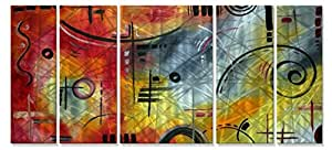 All My Walls MAD00235 Joy and Happiness' Metal Wall Art With Visual Movement! Abstract Wall Hanging Megan Duncan son
