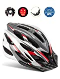 Shinmax Bike Helmet, CPSC Certified Adjustable Light Bike Helmet Specialized Cycling Helmet Men&Women Mountain Bike Helmet Visor&Rear Light