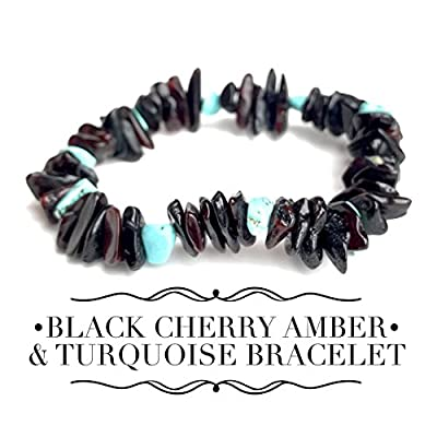 Beautiful Adult Baltic Amber Bracelet - All Natural Pain Relief for Adults to Help Migraines, Sinus, Arthritis and More! - Dark Cherry