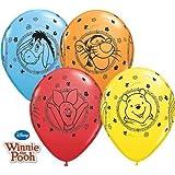 Winnie The Pooh - Winnie L'ourson Caractères 27.9cm Qualatex Latex Ballons x 10