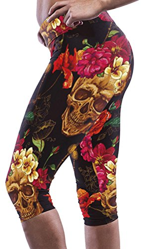 Smarty Pants Fancy Dress (IF FEEL Coloful Skull Fashion Legging BlueItem 3D Digital Print Yoga Pants (one size, as shown))