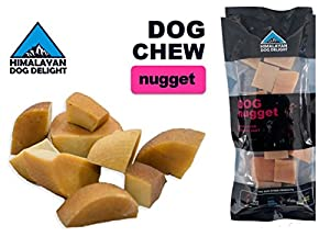 Healthy Dog Chew, 100% Natural, Pure Hardened Yak Cheese - 1 piece, Nugget, Min Net Wt. 3.5 oz - Himalayan Dog Delight