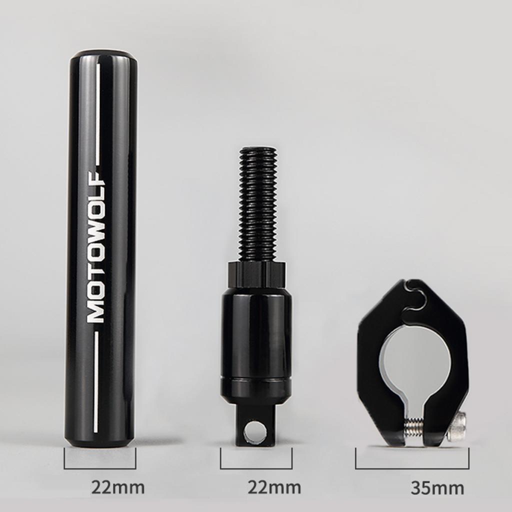 Homyl Motorcycle Adjustable Handlebar Cross Bar Steering Strength Lever Bar Black