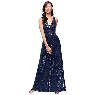 Davids Bridal Navy Dress