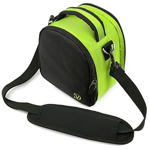 VG Neon Green Laurel DSLR Camera Carrying Bag with Removable Shoulder Strap for Pentax K x Digital SLR Camera