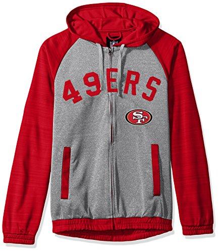 G-III Sports NFL San Francisco 49ers Legend Hooded Track Jacket, 6X, Gray