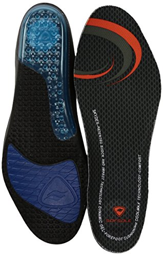 Sof Sole Airr Full Length Performance Gel Shoe Insole, Men's Size 11-12.5