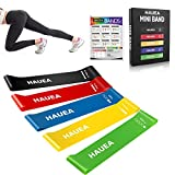 HAUEA Resistance Bands Set Fitness Exercise Elastic Loop Bands with 2 Core Sliders Gliding Discs for...