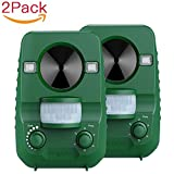 Cat Repellent, AngLink 2-Pack Ultrasonic Animal Repeller Solar Battery Operated...