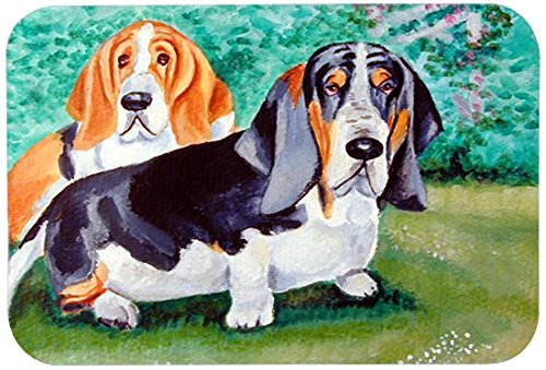 "Caroline's Treasures 7061CMT""Basset Hound Double Trouble"" Kitchen or Bath Mat, 20"" by 30"", Multicolor from Caroline's Treasures"