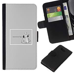 KingStore / Leather Etui en cuir / Samsung ALPHA G850 / Emociones Viagra Cita divertida Vida motivación