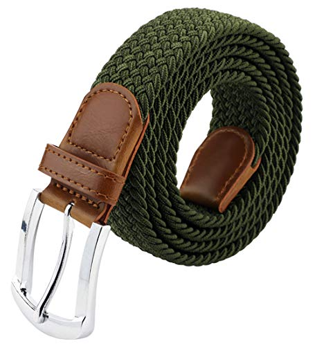 Maikun Mens Belt, Canvas Elastic Belt, Work Belts For Men 33 41