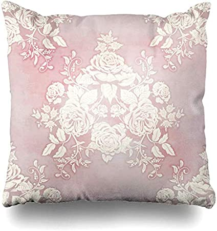 Throw Pillow Covers Blossom Pink French Bouquet Victorian Vintage Watercolor Classic Rose Garden Floral English Home Decor Cushion Cover Pillowcase 45x45cm Amazon Co Uk Kitchen Home