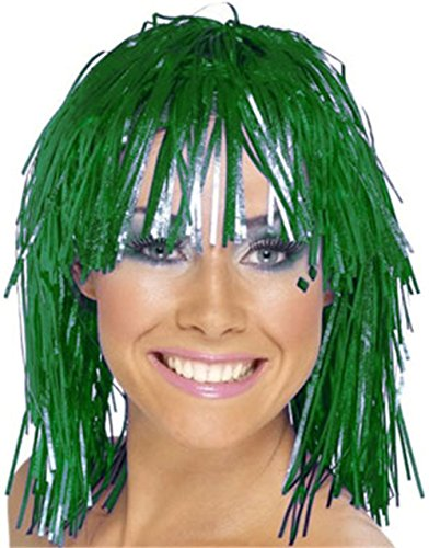 Adults or Childs Economy Green Foil Tinsel Costume (Green Tinsel Wig)