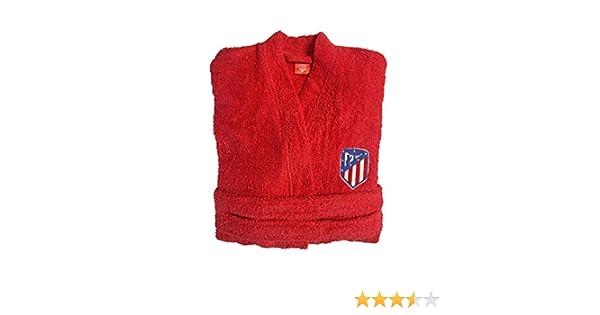 Atlético de Madrid. Albornoces con Licencia Oficial del Club.Unisex Algodón 100% (Talla L): Amazon.es: Hogar