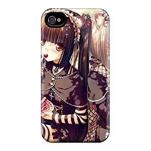 Shock-dirt Proof Cat Sweets Cake Girls Case Cover For Iphone 4/4s