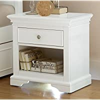 NE Kids Walnut Street Power/Lite Nightstand, White