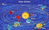 3 X 5 Rug Solar System Planets Educational Kids Children Gel Non Skid