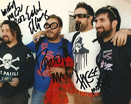 Molotov ROCK BAND autographs, In-Person signed -