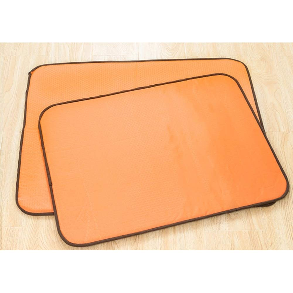 Orange Dog Cooling Bed Mat per Crate Kensel, Soft Slipscover Soft Additible Cooling Pad, Non Tossico &It Skin -Friendly, Orange