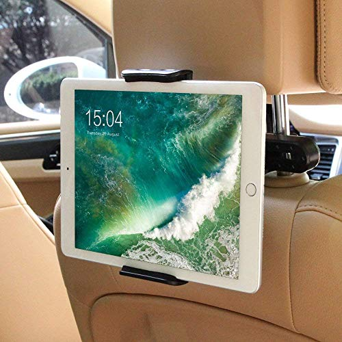 Car Headrest Mount for Nintendo Switch,Universal Car Mount Holder for Nintendo Switch, iPad, iPhone,Amazon Kindle Fire,Fits all 4 - 11 Smartphones and Tablets (Black)