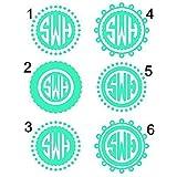Circle Monogram Decal - Circle Monogram Sticker - Personalized Decal - Personalized Sticker