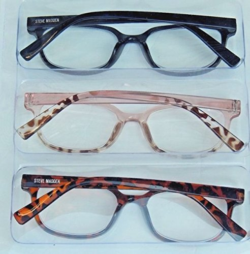 d723a449bb3 Amazon.com  Steve Madden Reading Glasses 3 Pack Readers +1.50  Health    Personal Care