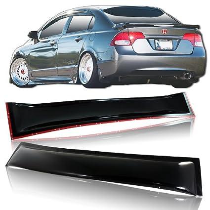 Amazon.com  2006-2010 Honda Civic 4DR Sedan Rear Window Visor   Roof  Spoiler  Automotive c50046f2af4