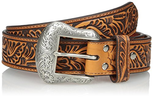 Nocona Belt Co. Men's Basic Floral Embosed, Tan, 40