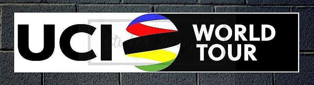 Aufkleber-Folie Wetterfest Made IN Germany ADESIVO UCI World Tour B219 Jahre haltbar UV/&Waschanlagenfest Auto-Vinyl-Sticker Decal ProfiQualit/ätToilettendeckel Sticker-Designs 15cm